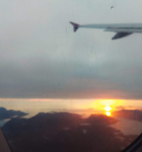 výhľad z lietadla